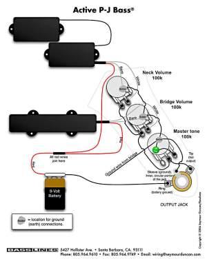 Emg Active Bass Pickup Wiring Diagram | Wiring Library