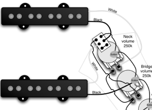 Jazz Bass series switch wiring when my pickups are already