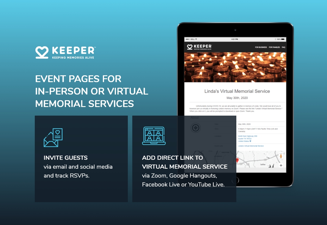 How to Hold a Virtual Memorial Service keeper memorials
