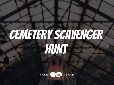 Halloween Cemetery Scavenger Hunt