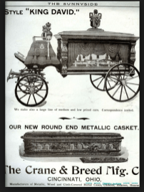 crane and breed hearse and casket