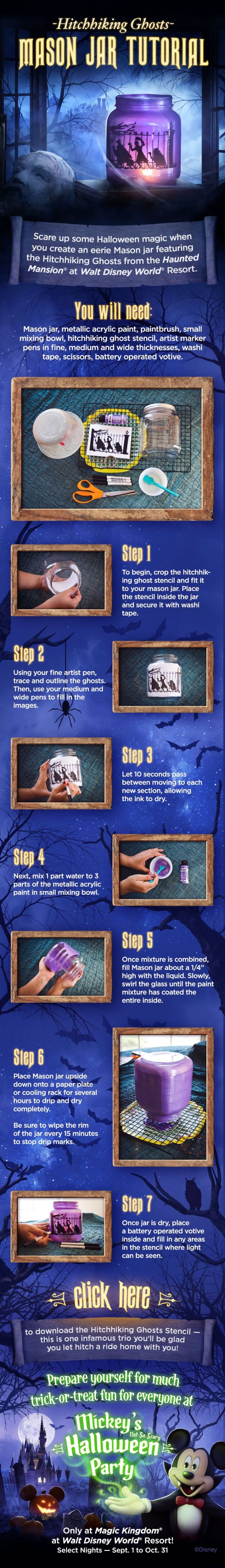 Haunted Mansion mason jar tutorial