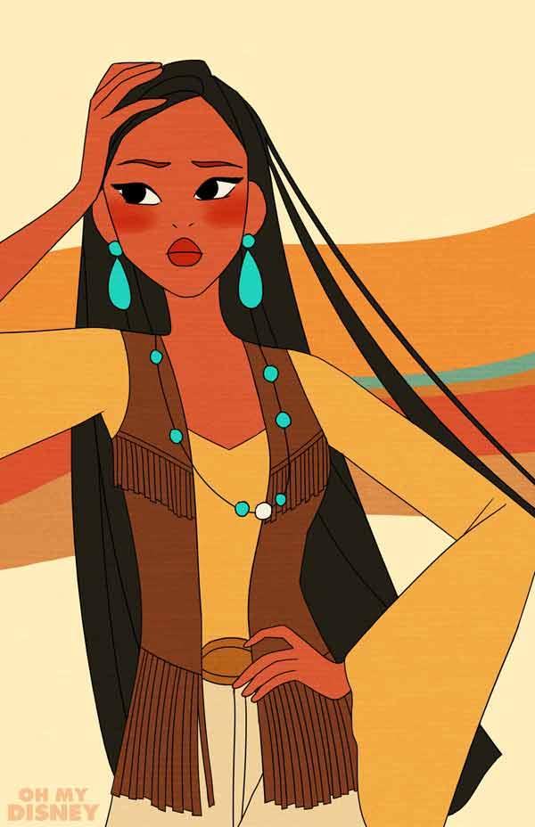 Retro-Inspired Pocahontas