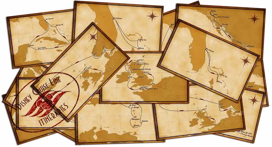 disney cruise line itinerary maps