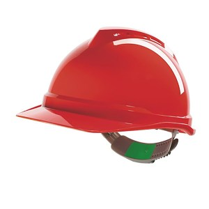 V-Gard® 500 Non-Vented Helmet with Push-key slide adj, sewn PVC s/b