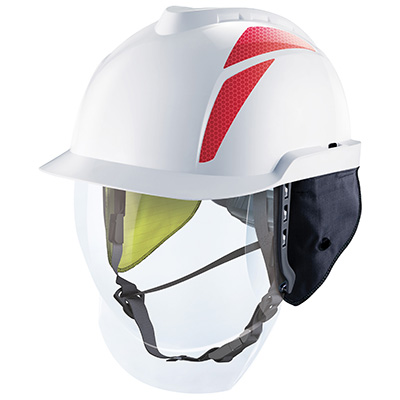 V-Gard 950 Non-Vented Protective Helmet with Arc flash ear flaps