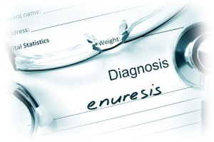 41512134 - diagnostic form with diagnosis enuresis and pills.