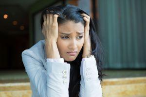 woman upset emotional