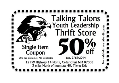 Watch local publications for coupons!