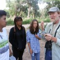 NM Audubon member giving instruction to the Youth Conservation Crew