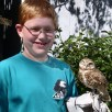 Youth with owl