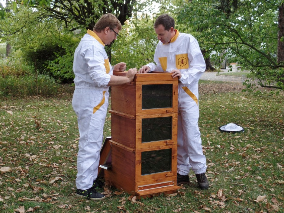 Roman Linhart and Jan Rája with Thermosolar Hive