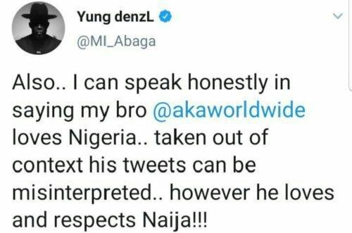 Vector and Burna Boy attacks MI Abaga for supporting AKA