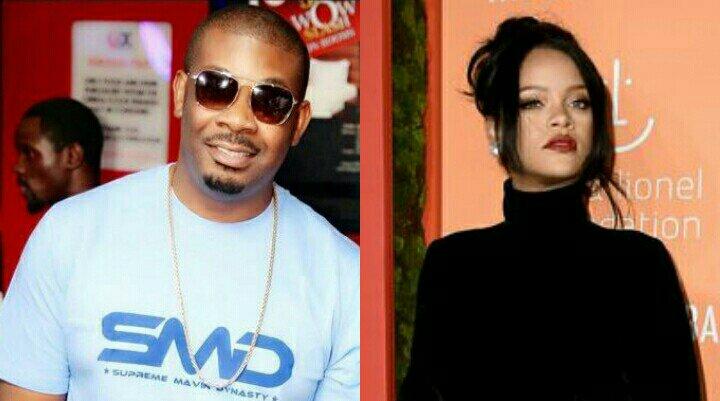 Funny! Don Jazzy reacts to Rihanna's pregnancy