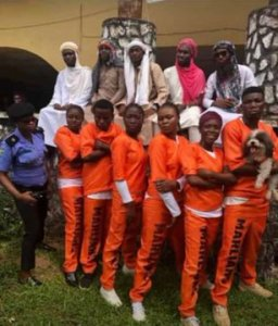 Naira Marley fans storm UNIBEN for costume day (Photos)