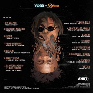 """Ycee releases the album cover and traclist for """"Ycee Vs Zaheer'"""