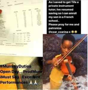 Wizkid's first Baby-Mama begs for funds online for their son's lesson fee