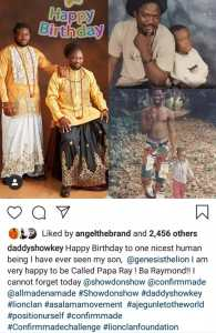 Daddy Showkey celebrates his son on his birthday with old and new photos
