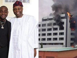 Davido reacts to Office of the Accountant General fire incident