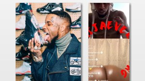 N*de girl twerks on Tory Lanez Instagram live, Instagram limits his account (video)
