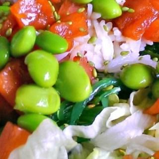 Sushi salade met gerookte zalm – Kiddielunch #1