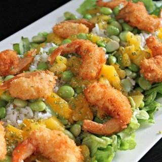 Sushi salade met mango en garnaal – Kiddielunch #12