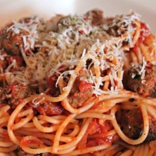 Spaghetti met gehaktballetjes a la Lady & de Vagebond