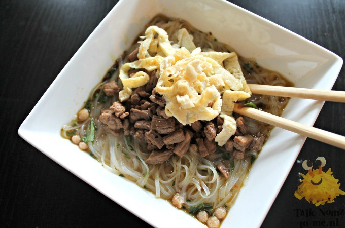 Rijst noodles (Gepimpte bamisoep of wannabe Ramen)