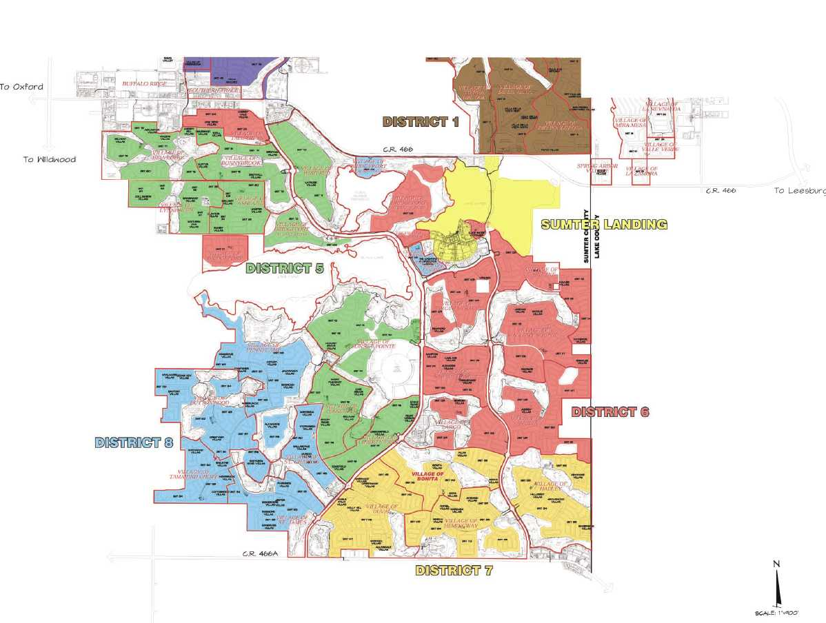 Map Of Florida The Villages.Map Villages Florida Neighborhoods