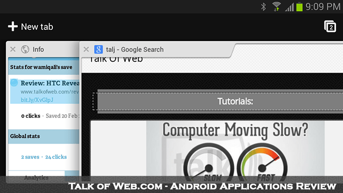 Google Chrom Multi Tabs - Android Talk Of Web