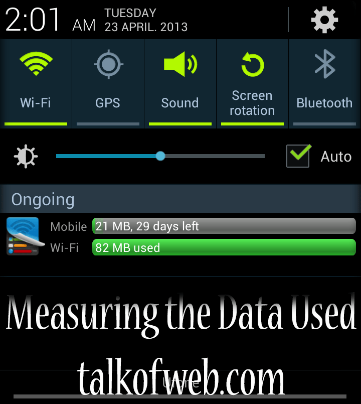 Measuring the Mobile Data Used