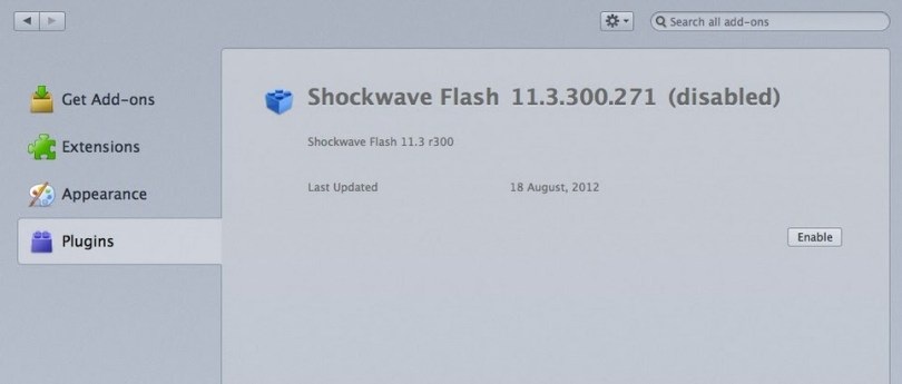 Enable Flash player in tor browser bundle mac osx