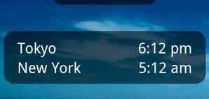 World Clock Android Widget
