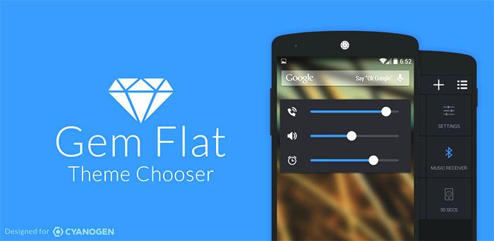 1 Gem Flat Theme for cyanogenmod 11
