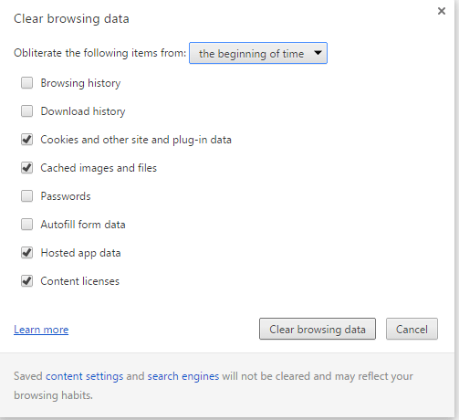 how to - clear browsing