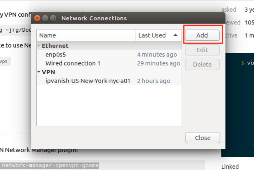 Add Import File Open VPN