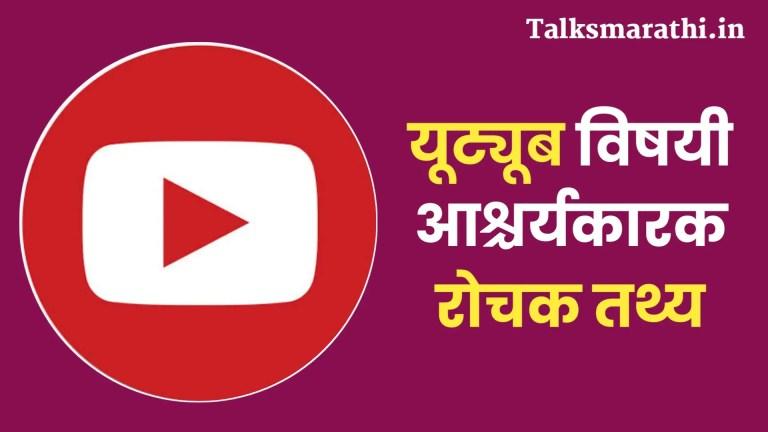 Amazing facts about youtube in marathi