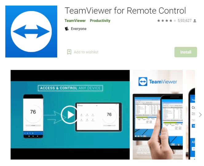 Teamviewer for Android and iOS