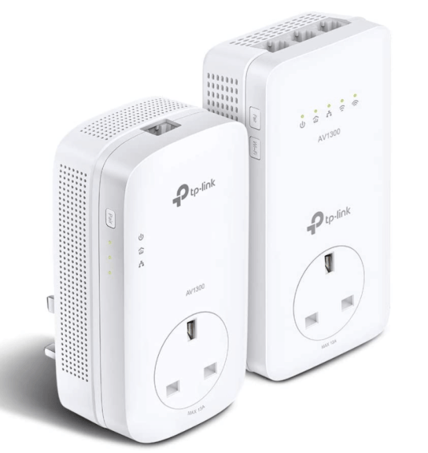 TP-Link AV1300 Gigabit Passthrough Powerline ac Wi-Fi Kit, up to 1200 Mbps WiFi speed, Wi-Fi Extender, Extra Power Socket, Works with OneMesh, No Configuration Required, UK Plug (TL-WPA8631P KIT)
