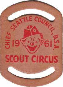 1961 CSC Scout Circus Leather Woggle