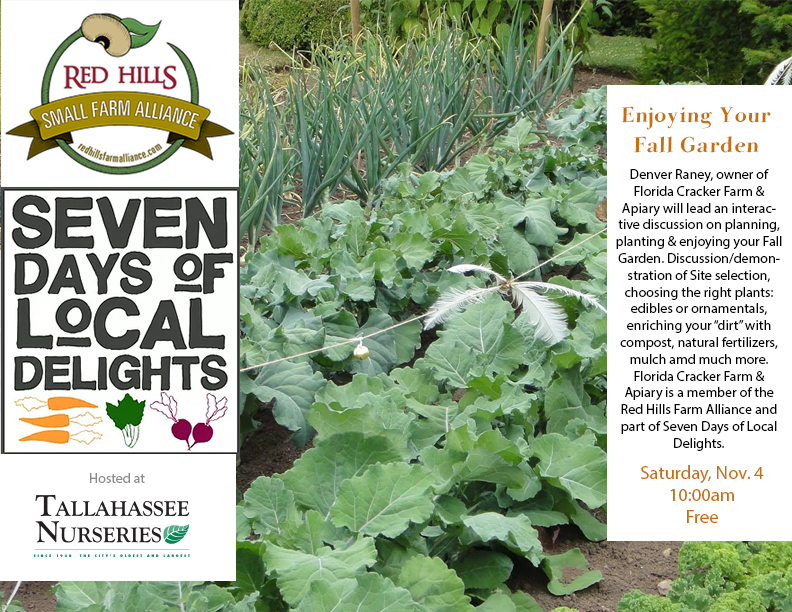 Enjoying Your Fall Garden-7 Days of Local Delights - Tallahassee ...