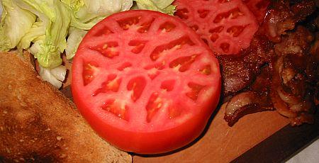 BLT bacon lettuce and tomato sandwich