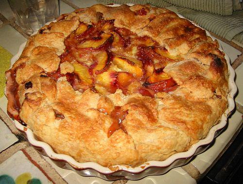 peach pie rustic galette