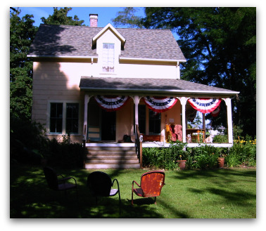 Tom's farmhouse on the Fourth of July
