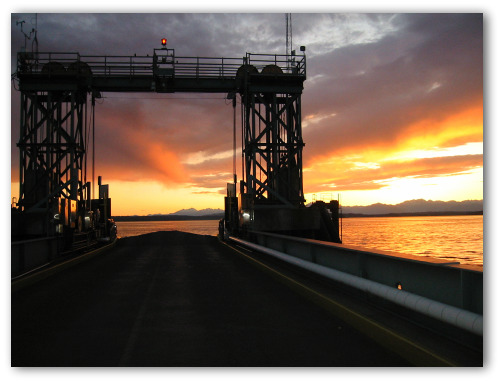 West Seattle ferry dock at sunset