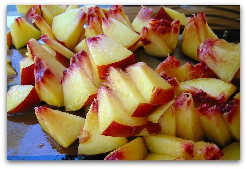 fresh bitesize peaches for chutney