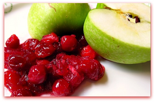granny smith apples and sour cherries