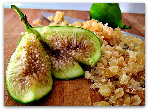 main ingredients fig and ginger jam