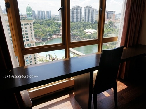Writing desk with a view