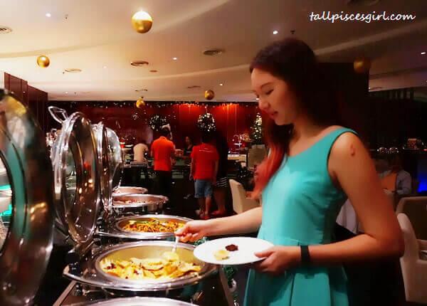 Enjoying the Christmas buffet spread at Big Apple Restaurant, Berjaya Times Square Hotel Kuala Lumpur